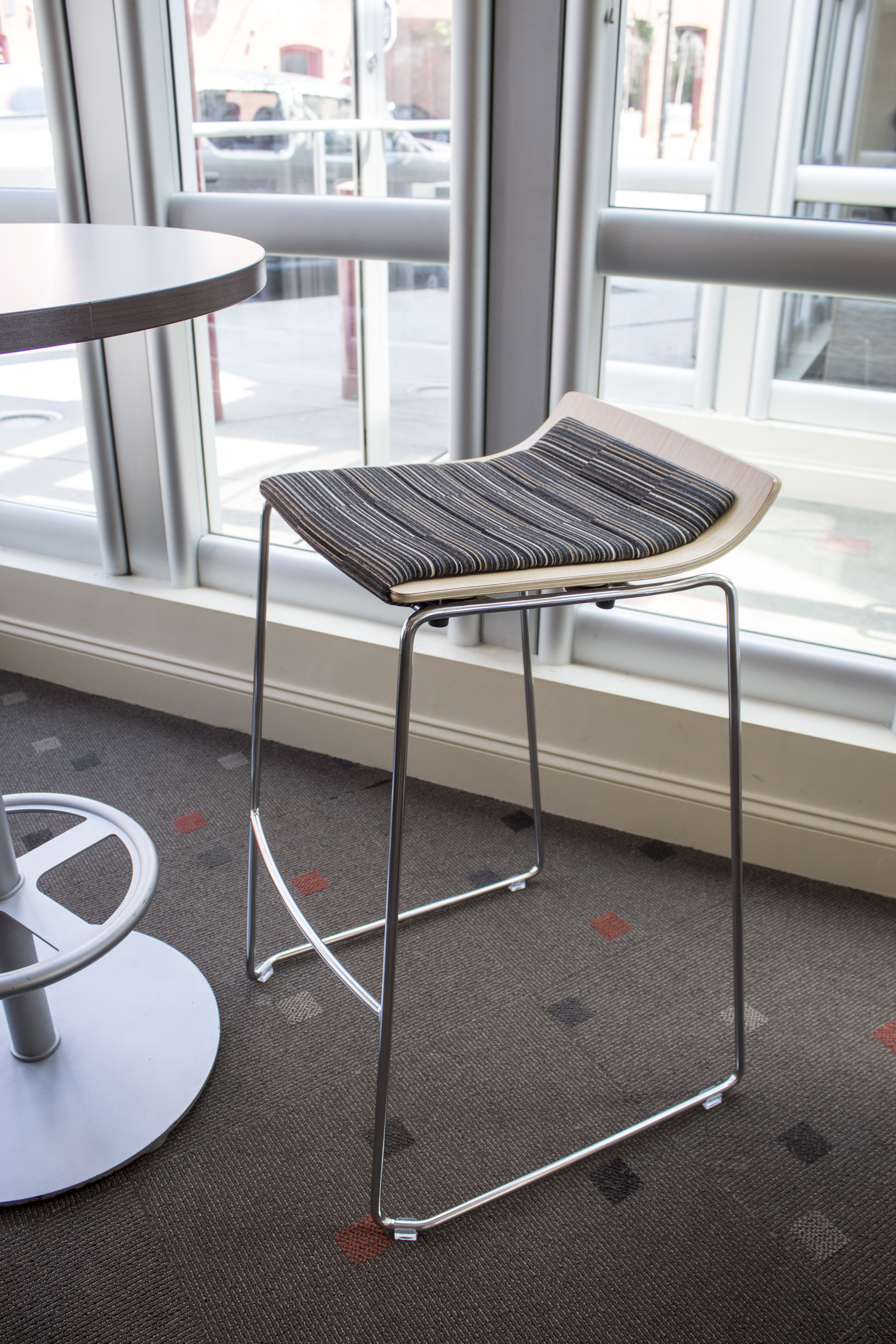 Allsteel Take 5 Stool with Art of Board Seat Fabric