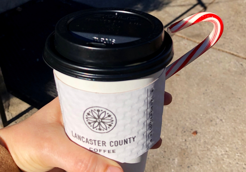 Lancaster County Coffee Roasters Coffee and Candy Cane